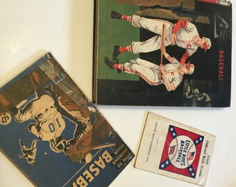 VINTAGE: Set of 3 Baseball books...1960s...baseball history , baseball vintage collector...