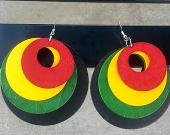Circle of Love Wooden Earrings