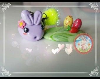 Handmade Clay Easter Bunny