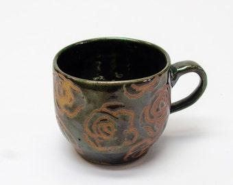 Etched Flower Mug
