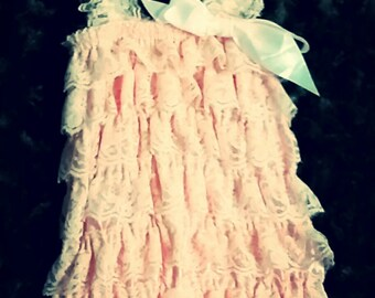 Lace Baby Rompers with Hairbow