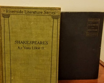 Two Shakespeare books-MacBeth and As You Like It