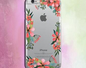 iPhone 6 Plus Case Flower iPhone SE Case iPhone 5 Case Clear Floral iPhone 5s Case iPhone 4 Case Flower Case iPhone 5c Case Samsung s5 Case