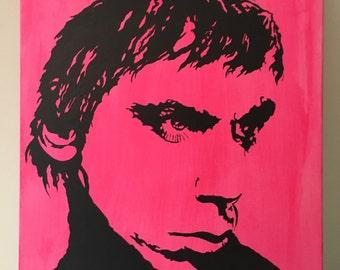 Iggy Pop 16x20 acrylic on canvas