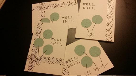Set of 4 - Dandelion (Sympathy Cards)