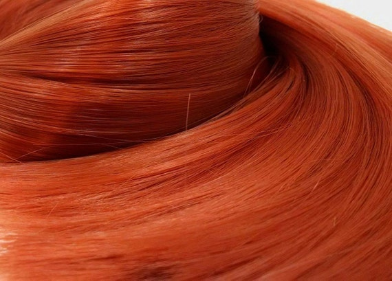 Reba Vibrant Light Red Nylon Doll Re-rooting Hair Hank for My Little Pony, Barbie, Dawn, Sindy, Monster High, Ever After, Crissy Blythe Doll