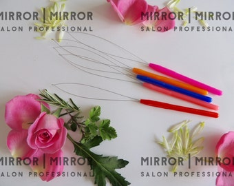 5 Pulling Hoops Loops to fit Micro Ring Hair Extension Tools