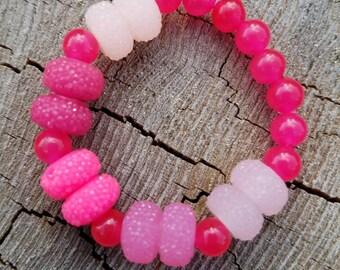 Pink toddler girl bracelet