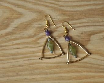 Handmade triangle shaped earrings