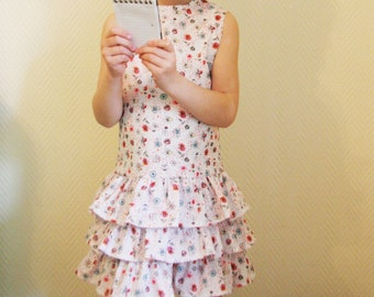 Happy Summer Frill Dress for little girl