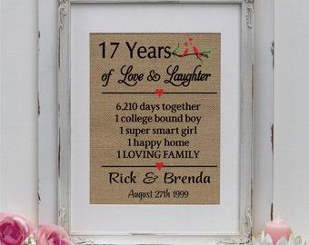 26th Wedding Anniversary Gift For Husband : ... gift for anniversary 17th anniversary gift anniversary ann402 17 us