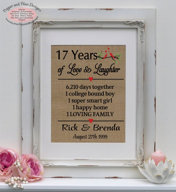 Gift For 17th Wedding Anniversary: 17th Wedding Anniversary Gifts 17 Years By