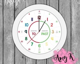 Kids Clock PDF File Download - Design 2