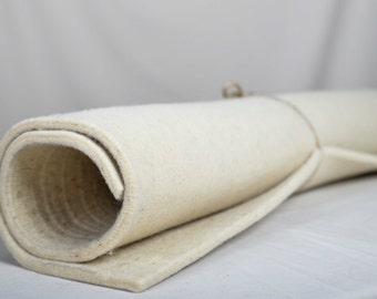 Wool Felt Sheet, Wool, Craft Felt, Felt Sheets, Wool Felt Fabric, Felt, Thickness 5 mm, 1 sqm (100 cm x 100 cm) Eco-friendly, Unbleached