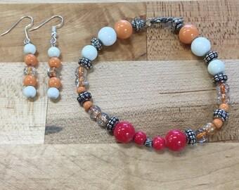 Warm Bracelet and Earring Set