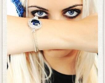 Saphire Blue crystal stone Bracelet.