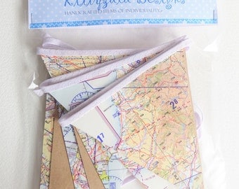 Aeronautical map bunting, Flying themed bunting