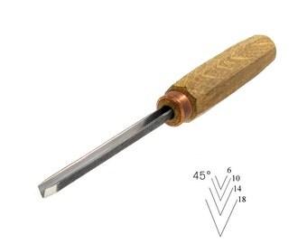 Chisel for wood carving, v-chisel, v chisel, carving tool, carving chisel, wood carving, wood working, carvers tool, carving chisels