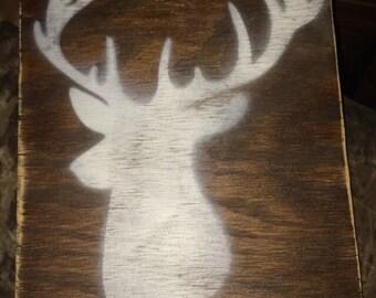Custom Wood Deer Wall Decor