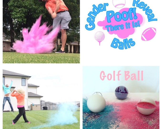 SALE Gender Reveal Golf Balls: Golf Ball Pack (Custom Color Combinations and Styles) Gender reveal Golf Ball