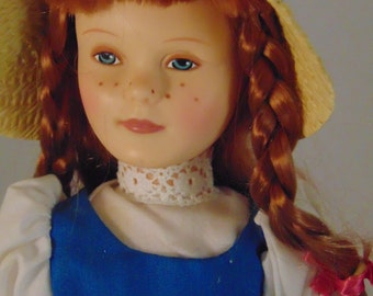 Vintage Effanbee Becky Thatcher Doll with Custom Stand
