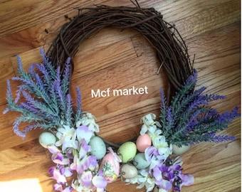 easter rustic wreath