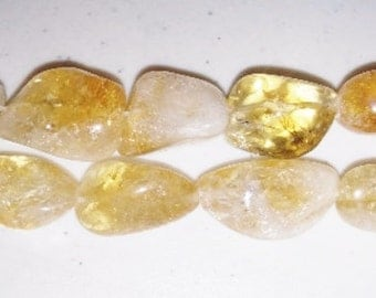 SALE! Citrine beads nugget beads citrine nuggets yellow stone beads yellow quartz quartz beads yellow nugget beads
