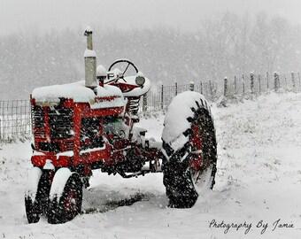 Farmall Winter Tractor Photography