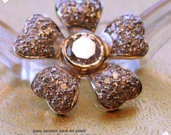 Daisy pendant, AAA grade cz
