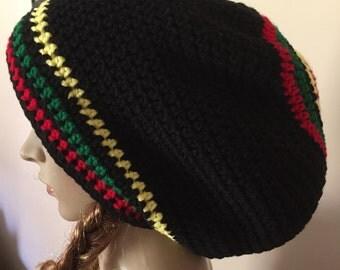 Rasta hat, crochet rasta hat, crochet rasta tam