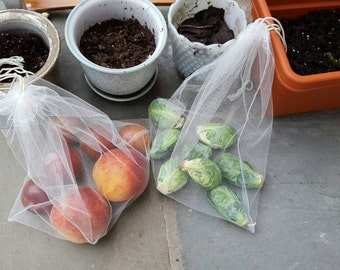 Produce Bags, Reusable Drawstring Grocery Bags for Produce, Replaces plastic bags