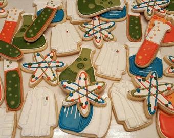 Mad Scientist - Bio Chemistry Sugar Cookies- One Dozen
