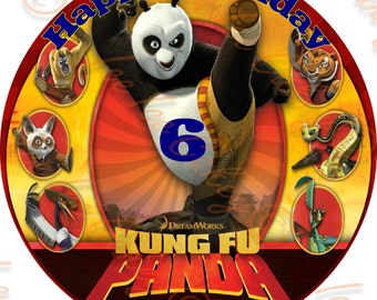 Kung Fu Panda - Option 1, 8 Inch Round Topper