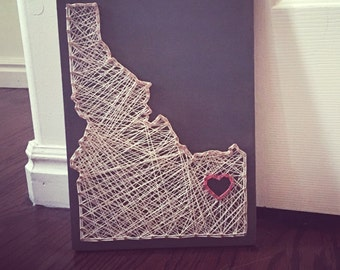 Love Idaho String Art