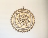 Sacred Geometry, wood mandala wall decor, spiritual wall art & decor, mandala wall art