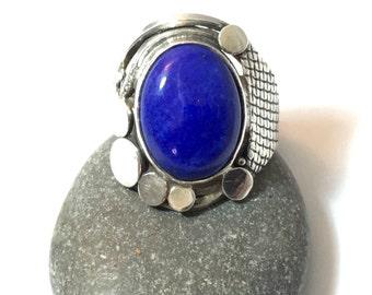 Ring Lapis lazuli silver Ring Lapis lazuli Silver sterling 925 thousandth size 55 size us 7.25 euro swiss 15