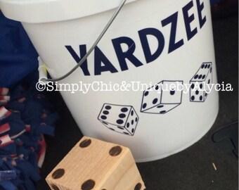 YARDZEE or Farkle, Yard Yahtzee, Life Size Yahtzee, Yahtzee for the Yard, Life Size Game, Summer Game, Backyard Game, Life Size Dice Game