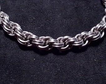 Stainless Steel Spiral Chanimail Bracelet