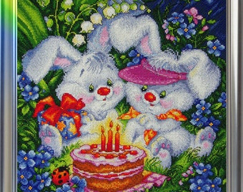 "LanSvit CROSS-STITCH KIT ""We Are Both Happy!"" (D-005)"
