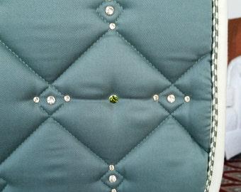 Dressage Saddle Pad - Swarovski Crystal Rivet Embellished