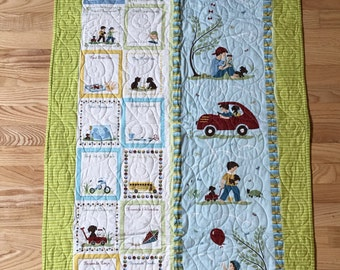 Baby Boy Growth Chart Quilt