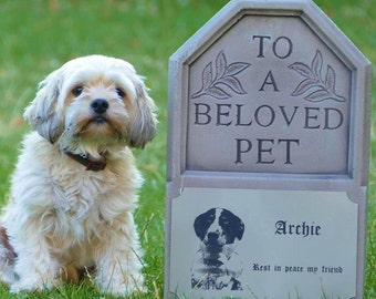Pet Headstones | Personalised Pet Memorial | Graveside Decorations | Grave Markers