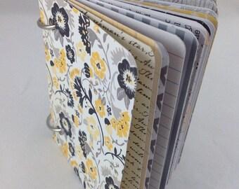 Mini Journal, Junk Journal, Smash Book Journal, Journal, Art Journal, Blank Book, Journal Book 3x4164
