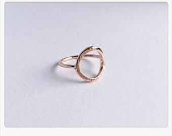 Goldring matt  Matt rose gold ring | Etsy