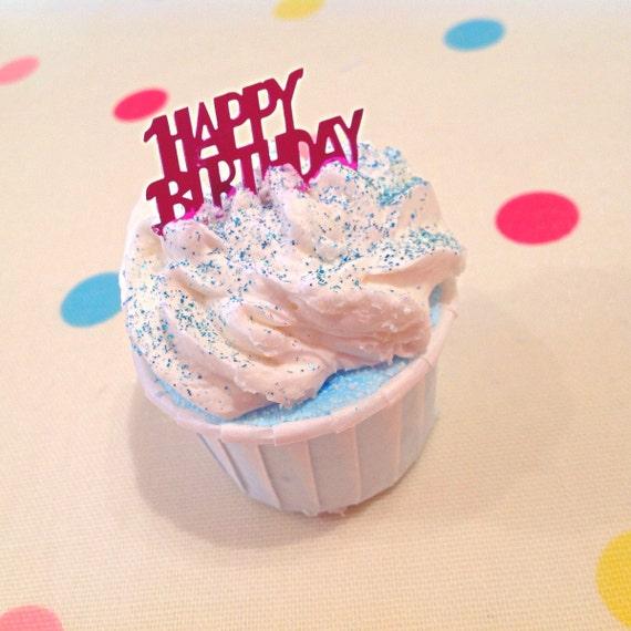 Happy Birthday Bath Bomb Creamer Handmade Gift Or By