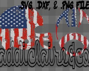 USA Football Flag Files (.svg, .png, & .dxf)