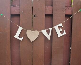Love Banner/Wedding Decorations/Engagement prop/Valentines Day/Valentine's Day