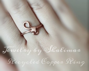 Recycled Copper Wire Ring