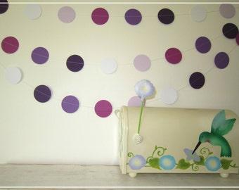 Purple Palette Paper Garland