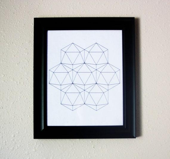 Wall Decor Hexagon : Geometric patterns hexagon wall art digital